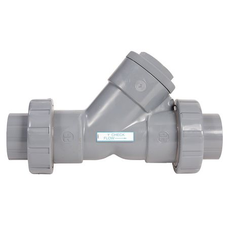 Hayward True Union Y Check Valve,PVC,2 In. YC10200SU