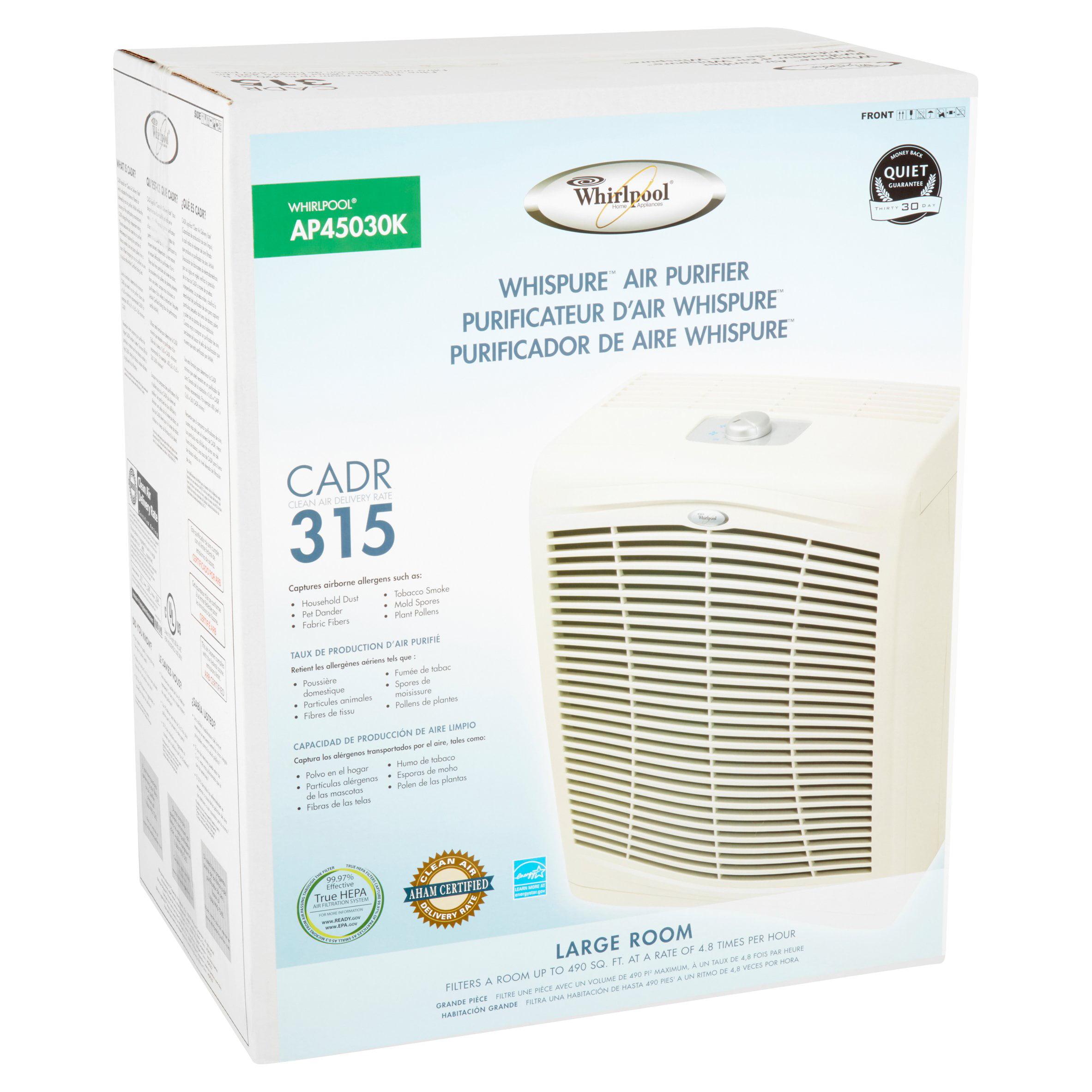 whirlpool whispure large room air purifier walmart com