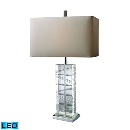 New Product  Avalon LED Table Lamp In Clear Crystal And Chrome D1813-LED Sold by VaasuHomes