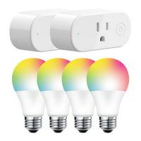 Deals on Jetstream Smart Home Starter Kit 2 Plugs + 4 Smart Bulbs