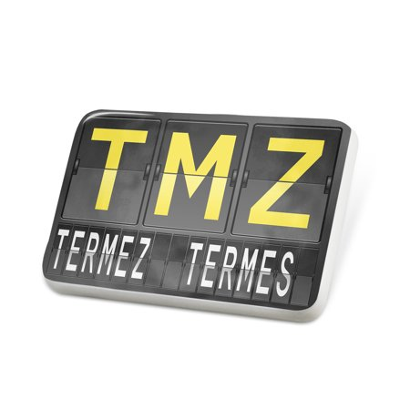 Porcelein Pin Tmz Airport Code For Termez  Termes  Lapel Badge   Neonblond