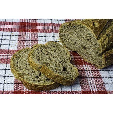 Canvas Print Bakery of Health Salt Sesame Seed Garlic Bread Stretched Canvas 10 x