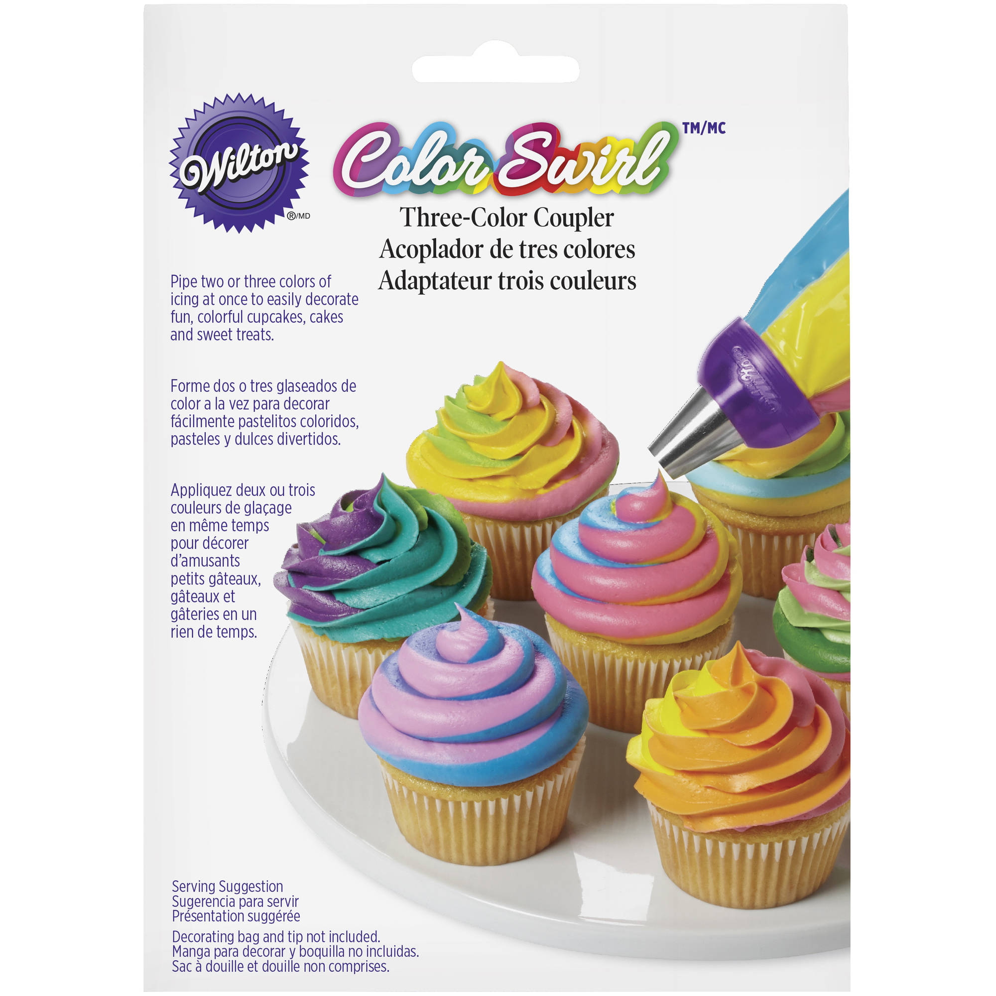 Wilton ColorSwirl 3-Color Icing Decorating Coupler, 6-Piece Set