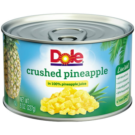 Dole Crushed Pineapple in 100% Pineapple Juice 8 oz. Can ...