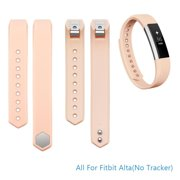 Fitbit Alta Bands Adjustable Replacement Wrist Bands Soft Silicon Strap-No Tracker(Blush Pink, Small)