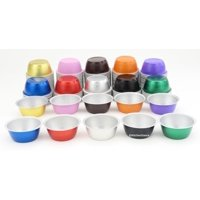 Disposable Aluminum Colored 4 ounce Ramekins-Creme Brulee Cups-Foil Cups-Dessert Cups- Pack of 24