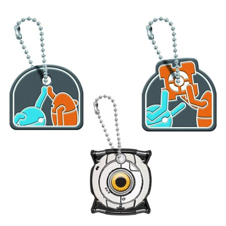 Portal Keycap Gift Set: Atlas & P-Body, Atlas & P-Body With Cube, & Space Sphere - Portal Companion Cube