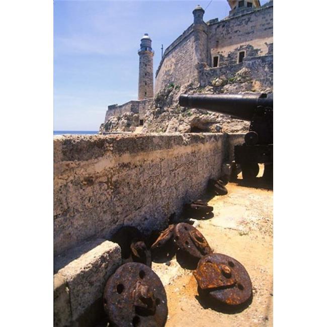 Posterazzi PDDCA11GJO0044 Thick Stone Walls El Morro Fortress La Havana Cuba Poster Print by Greg Johnston - 24 x 36 in. - image 1 of 1