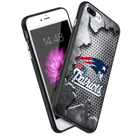 finest selection b0c07 8477f Patriots iPhone 8 Plus Case iPhone 7 Plus Case Silicone Gel Rubber TPU  Shock Absorption Bumper Cover Shell for iPhone 8 Plus/7 Plus (5.5')