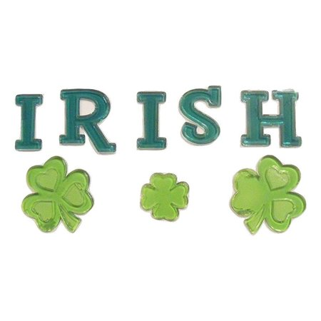 St. Patrick's Day Reusable Gel Window Clings ~