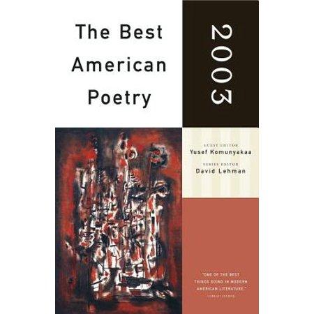 The Best American Poetry 2003 - eBook