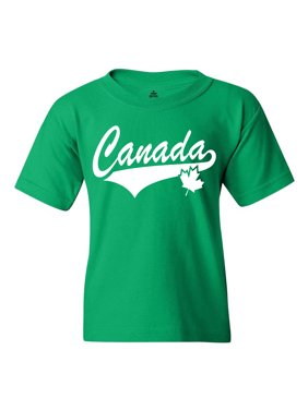 Product Image Shop4Ever Youth Canada White with Leaf Proud Canadian Flag  Graphic Youth T-Shirt 7b53055db