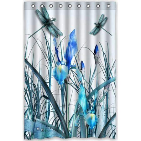Ganma Dance of the Dragonflies Shower Curtain Polyester Fabric Bathroom Shower Curtain 48x72