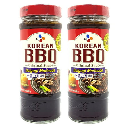 CJ Korean BBQ Sauce BULGOGI Marinade 16.9 Oz. (Pack of