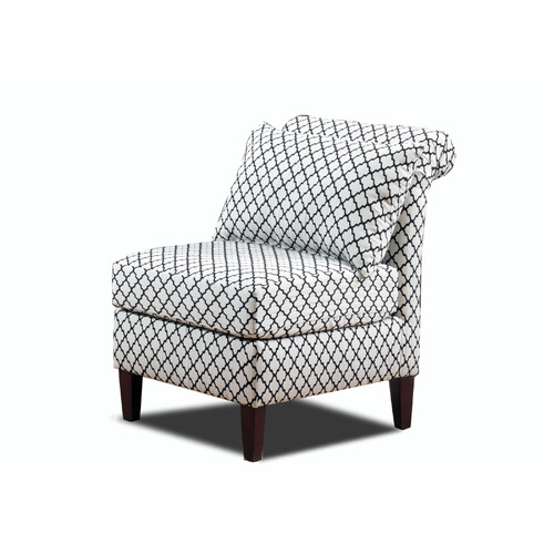 Carolina Accents Ashton Roll Back Slipper Chair by Carolina Accents