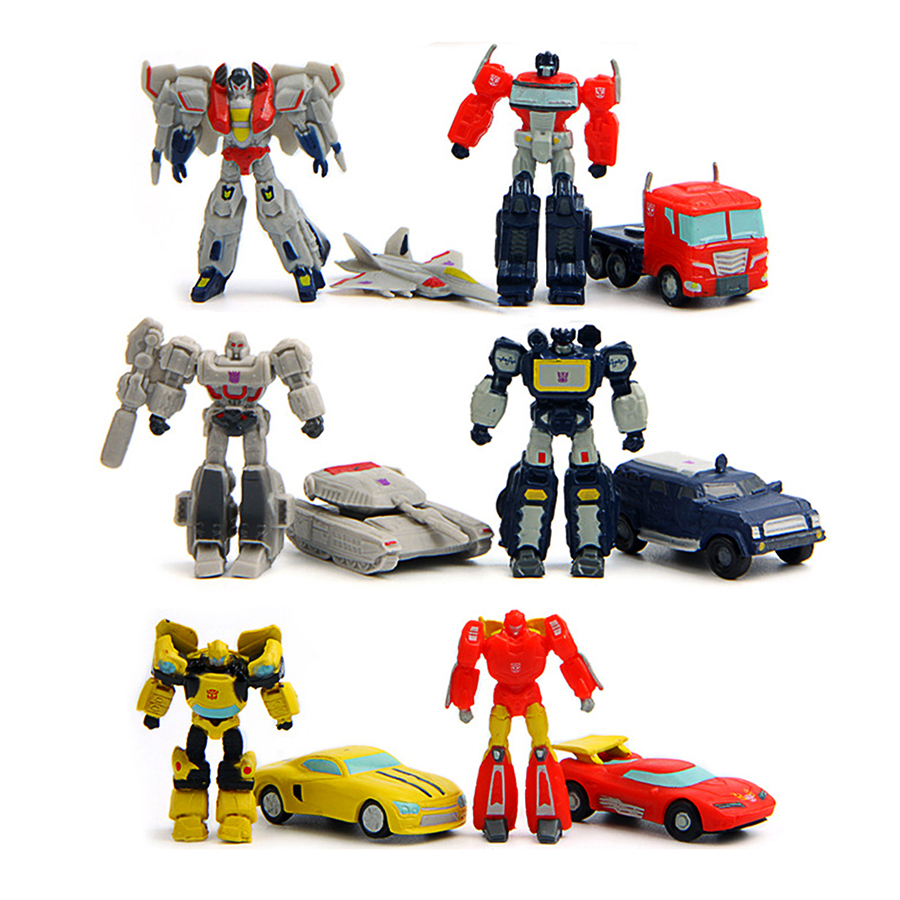 Antsir 12 pcs Transformers Robot Car Action Figures Kids Toys by Antsir