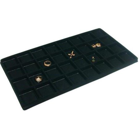 Black 32 Slot Coin Jewelry Showcase Display Tray Insert