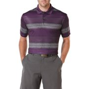 Performance Men's Short Sleeve Printed Heather Multi Stripe Polo Shirt