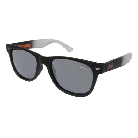 New Superdry Sds Superfarer Mens/Womens Designer Full-Rim Mirrored Matte Gradient Black Genuine Hot Original Case Shades Sunnies Frame Mirrored Gray Lenses 50-19-145 Sunglasses/Sun (Cheap Superdry Sunglasses)