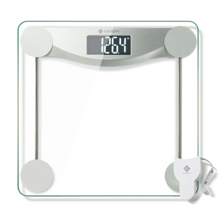 Etekcity Digital Body Weight Bathroom Scale with Step-On Technology, 440 Pounds, Body Tape Measure