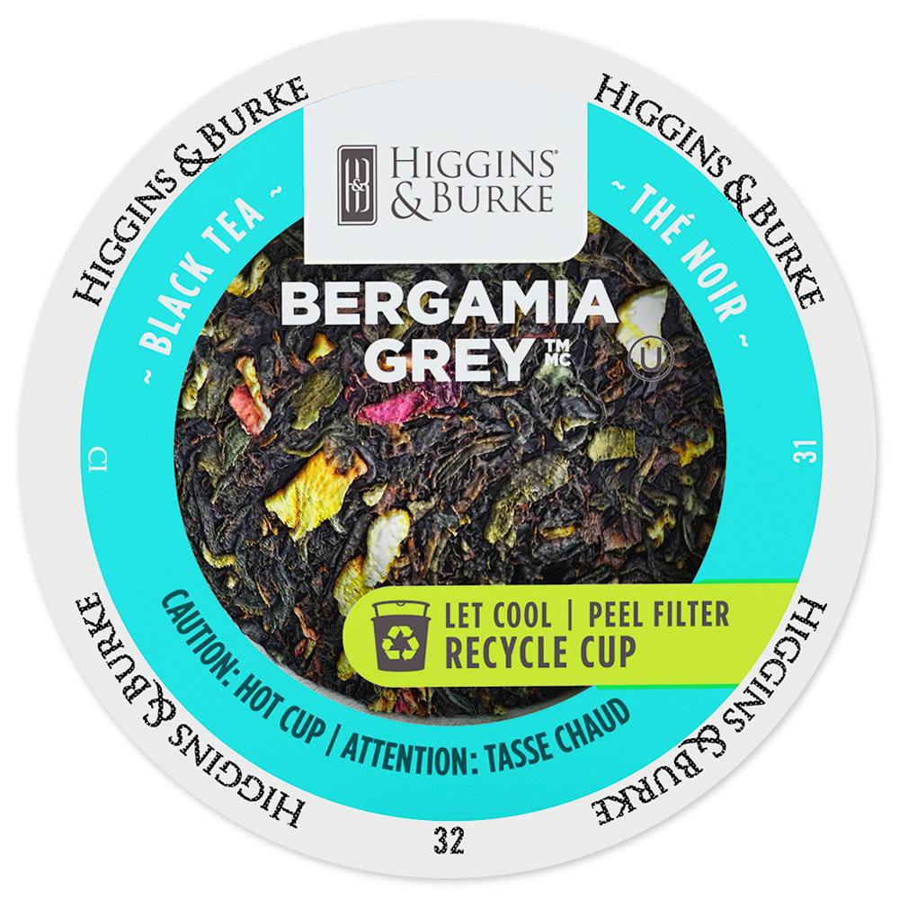 Higgins & Burke Specialty Tea Bergamia Grey Tea Single Serve Cups, 96 count