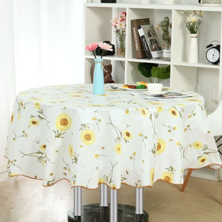 60 Inch Round Tablecloth (Vinyl Home Tablecloth Round Tables 60