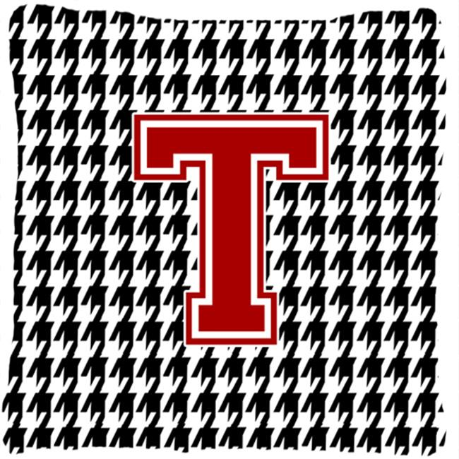 Carolines Treasures CJ1021-TPW1414 Monogram - Initial T Houndstooth Decorative Fabric Pillow - 14 x 14 in. - image 1 of 1