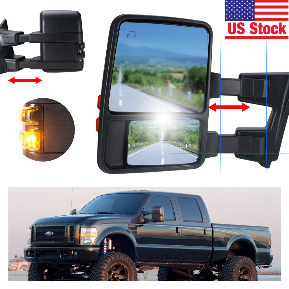 Penton Audio USA 08-16 Heated Power Side Towing Mirrors B...