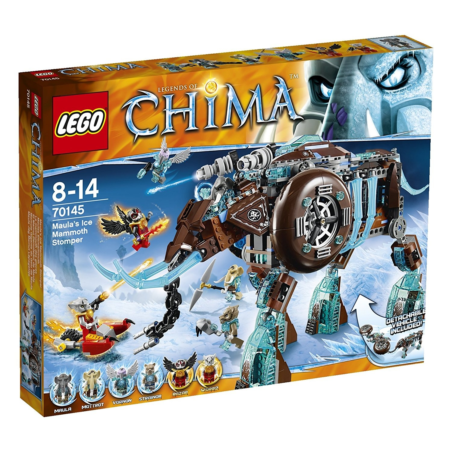 Lego Legends Chima Maulas Ice Mammoth Stomper (70145) by ...