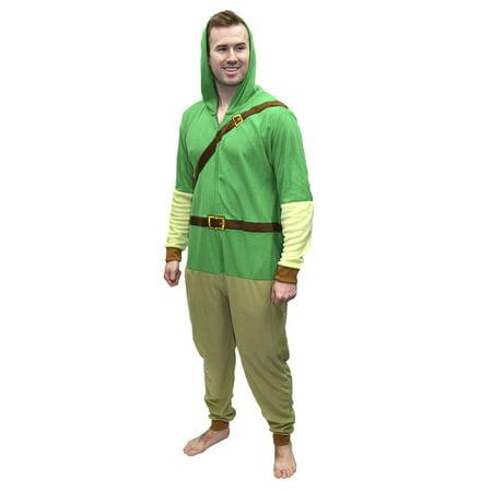 Nintendo Mario Yoshi Faux Zelda Donkey Kong Union Suit Pajama Costume, Mario, Size: S/M