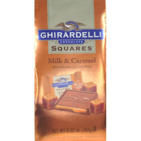 Ghirardelli Squares Milk & Caramel Chocolate, 5.32 Oz. - Halloween Chocolate Caramel Apples