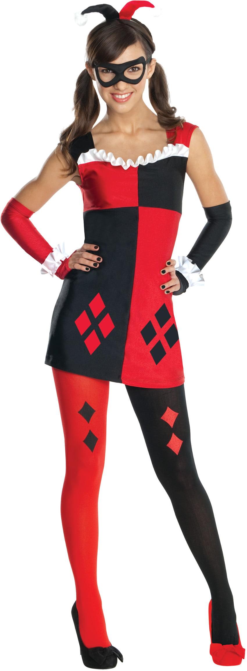 Girls Tween Batman DC Comics Harley Quinn Dress Costume by Rubies
