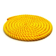 Eastern Jungle Gym CRHG 0.625 in. x 16 ft. Multi Use Braided Playground Rope, Yellow
