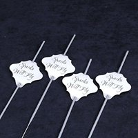 36 pc Wedding Sparklers Tags - Sparks Will Fly - Cream Shimmer Paper