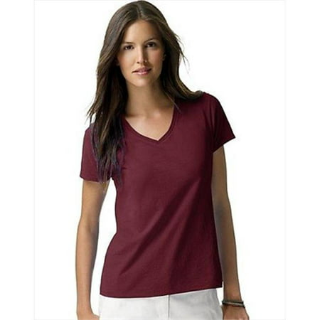 latest trends of 2019 how to orders rich and magnificent Hanes S04V Womens Nano-T V-Neck T-Shirt, Maroon Burgundy - Double Extra  Large | Walmart Canada