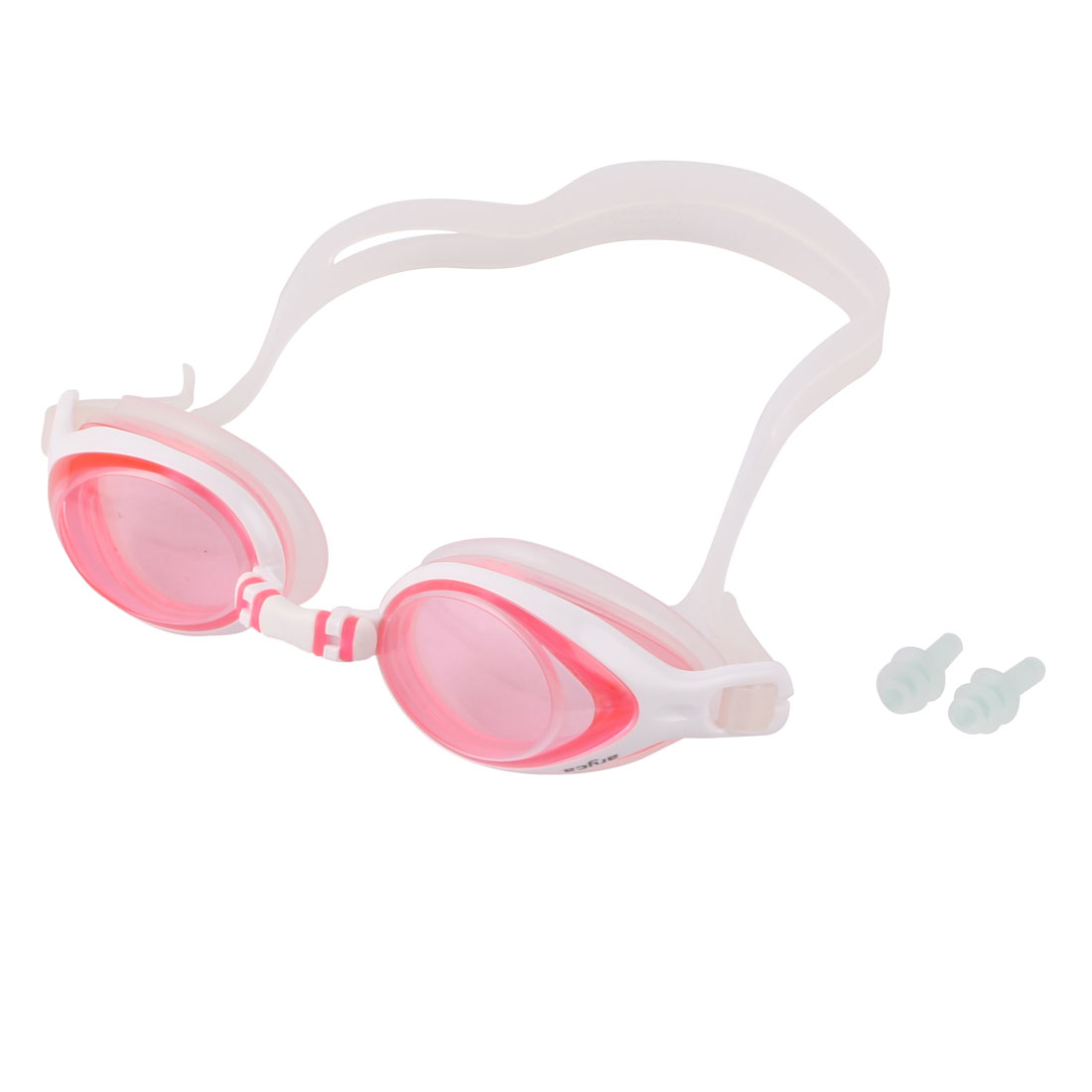 White Pink Swimming Summer Beach Kid Pool Elastic Band Goggles by Unique-Bargains