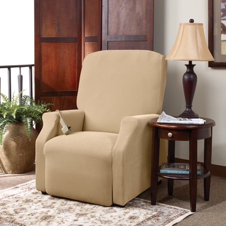 Sure Fit Stretch Pique Lift Recliner Slipcover Large