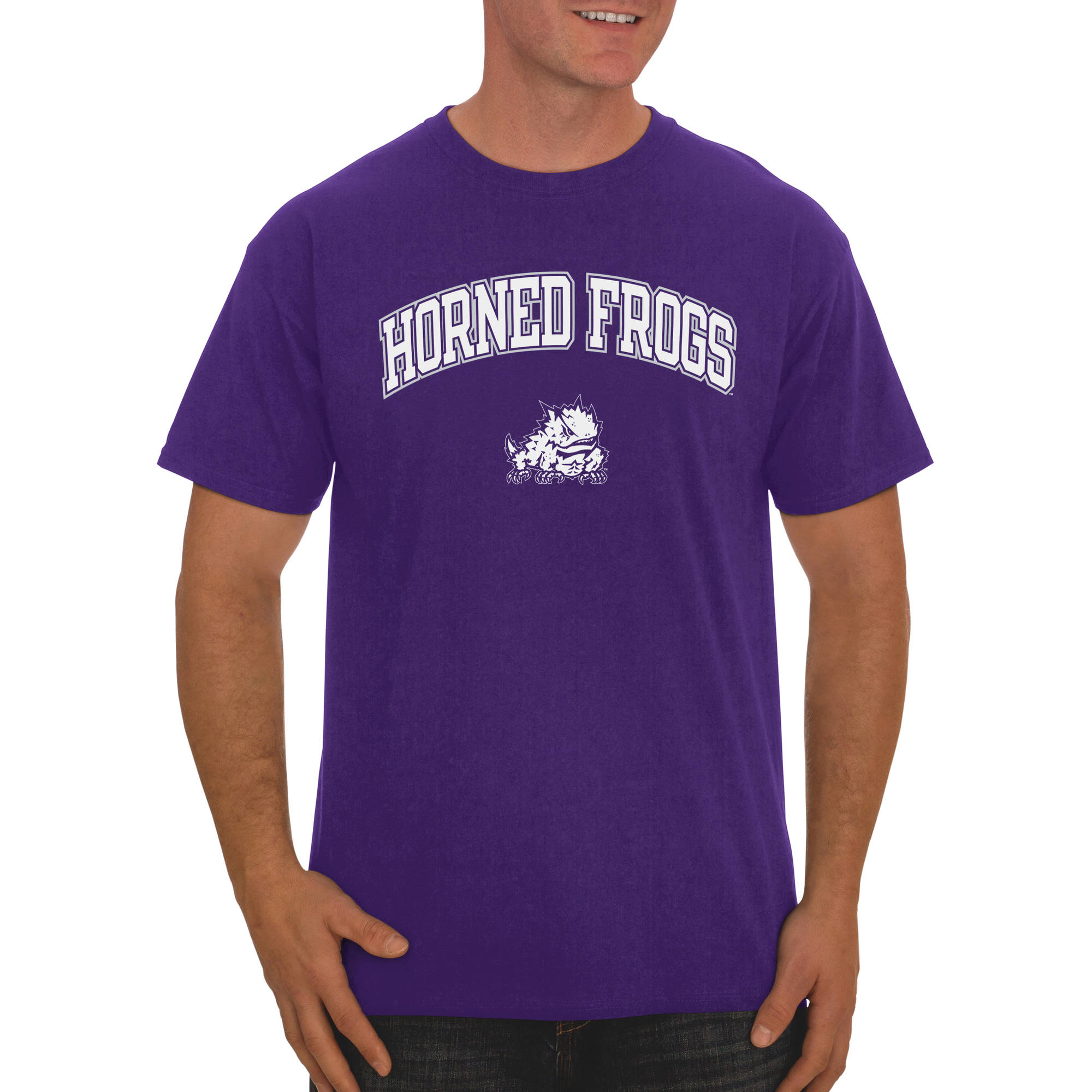 Russell NCAA TCU Horned Frogs Men's Classic Cotton T-Shirt