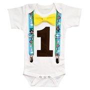 Noah's Boytique Baby Boys First Birthday Farm Barn Party Outfit 12-18 M