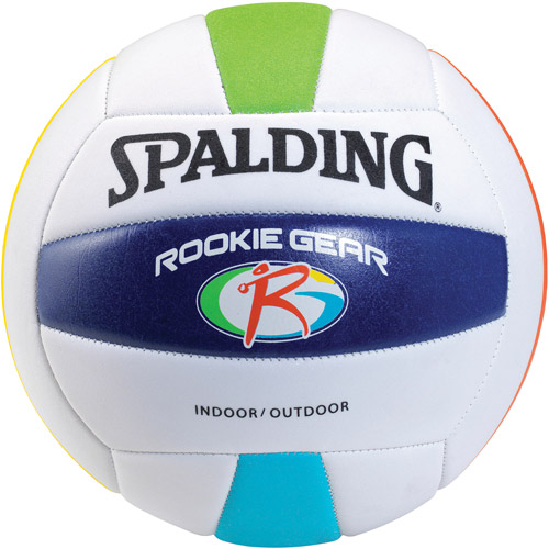 Spalding Rookie Gear TPE Volleyball, Blue/Red