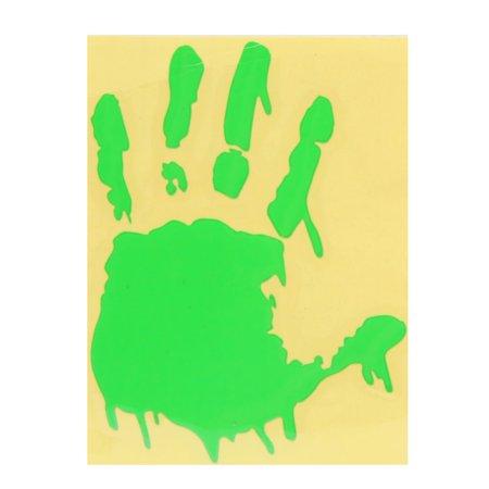 Fluorescent Green Palm Design Car Exterior Body Reflective Sticker Decor ()