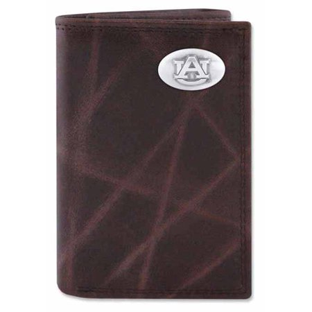 Auburn Wallet - Auburn Wrinkle Leather Trifold Wallet