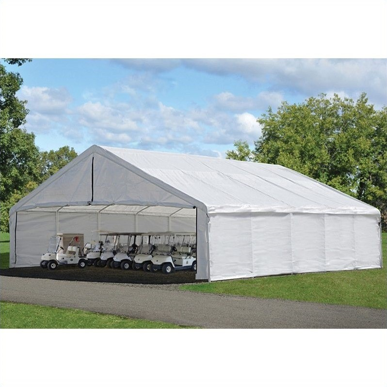 Ultra Max 30' x 30' White Industrial Canopy