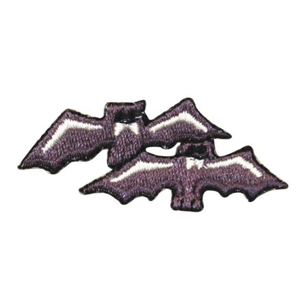 Spooky Halloween Store (ID 0931 Pair of Bats Fly Patch Halloween Spooky Bat Embroidered Iron On)