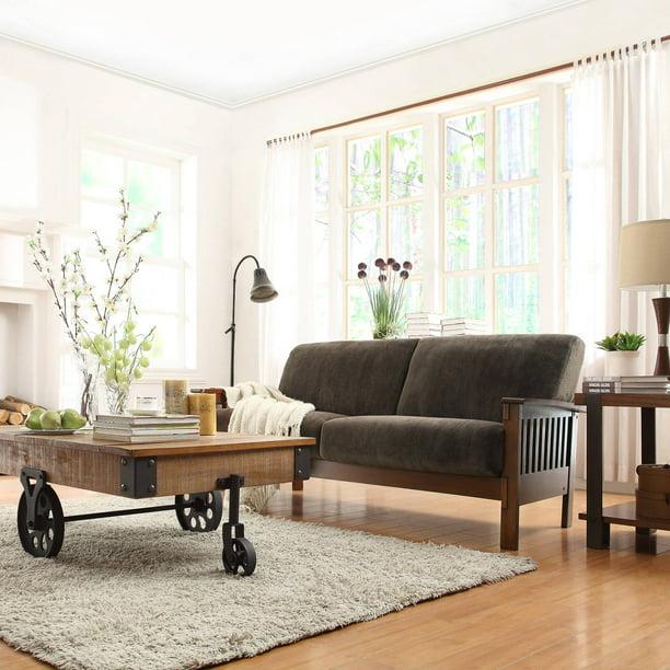 Microfiber Sofa Dark Brown