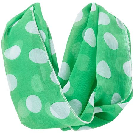 Dotted Scarf - Amtal Women Polka Dots Lightweight Chiffon Summer Infinity Scarf