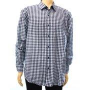 Tasso Elba NEW Blue Mens Size XL Button-Front Check Woven Pocket Shirt $59