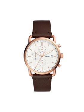 8e25e76565f5 Men s Commuter Chronograph Brown Leather Watch FS5476