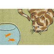 Liora Manne Frontporch Curious Cat Area Rug