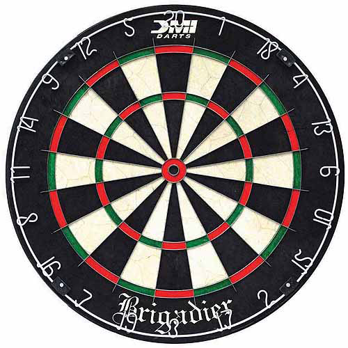 Brigardier Staple-Free Bristle Dartboard by Escalade
